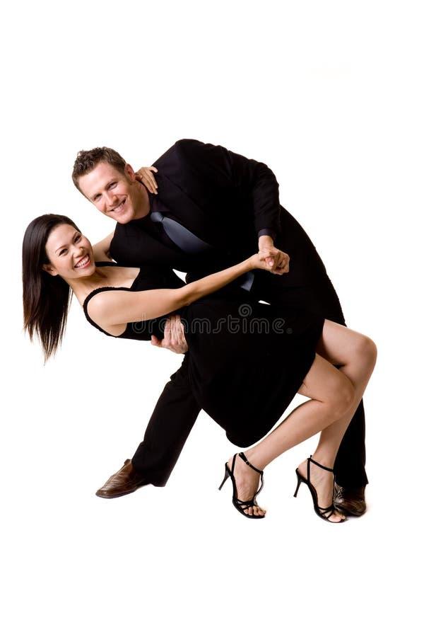 Happy dancing pair
