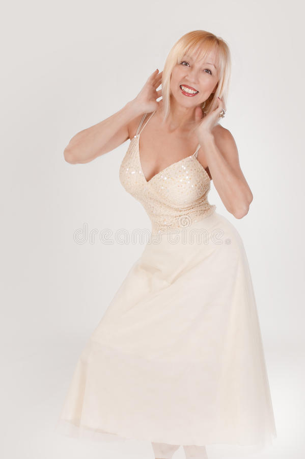 Happy Dancing Woman stock photos