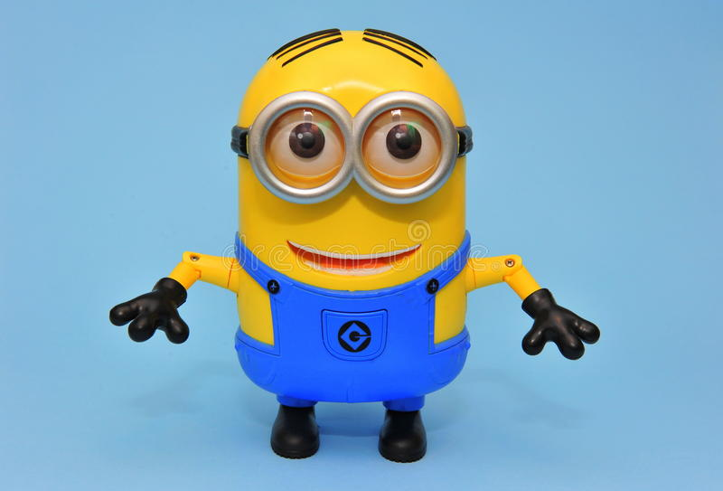 Happy Dave minion - arms down royalty free stock photography