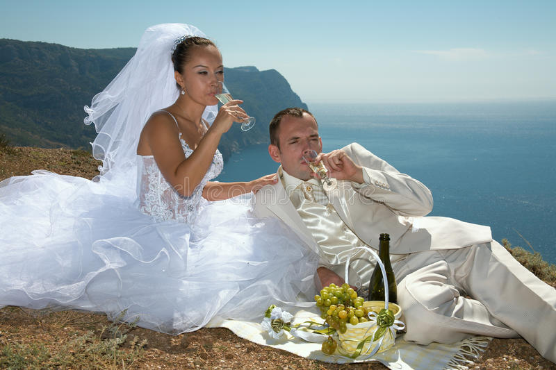 Download Happy day. stock photo. Image of bride, romance, alcohol - 16193516