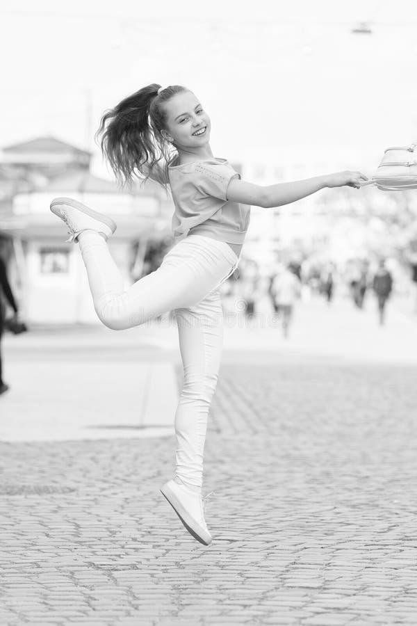 Happy day. Girl carefree child. Kid long hair enjoy walk sunny day. Summer holidays relax. Charming stylish fashionable stock photos