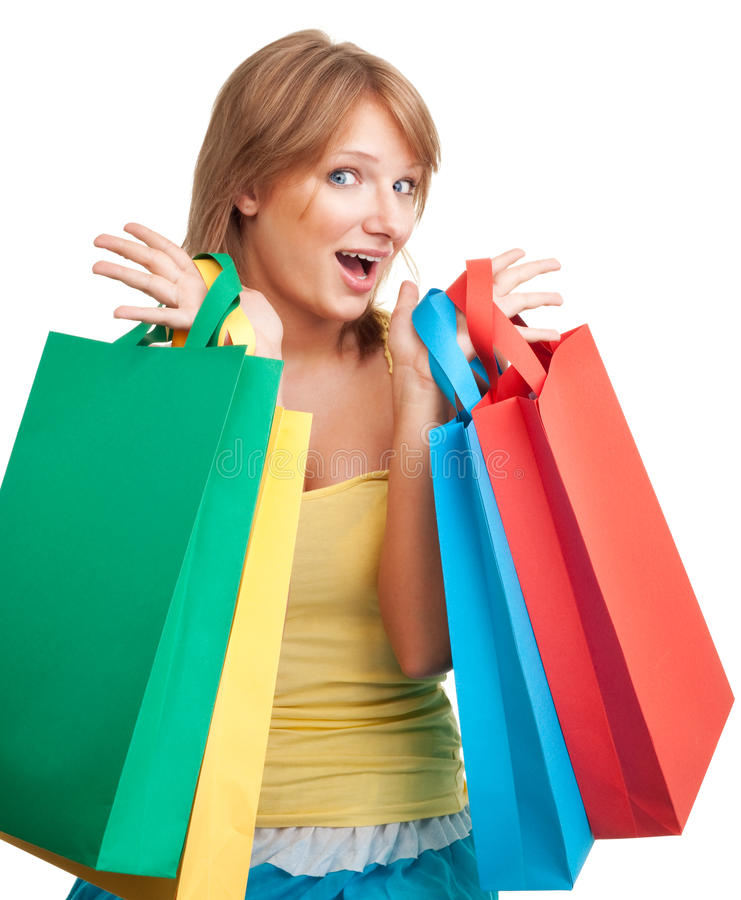 Download Happy day for shopping stock image. Image of blue, customer - 15781917