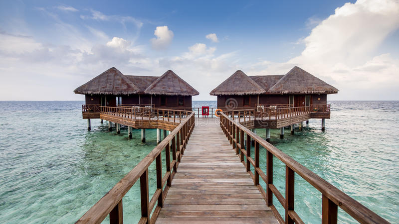 Happy days in Maldive stock images