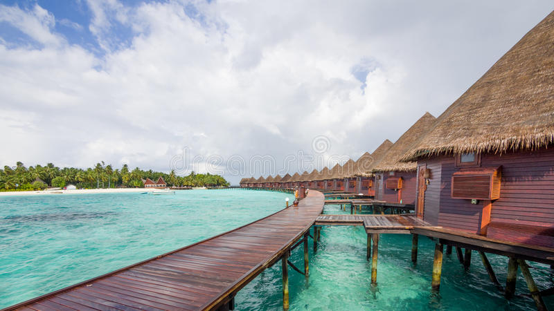 Happy days in Maldive royalty free stock photo