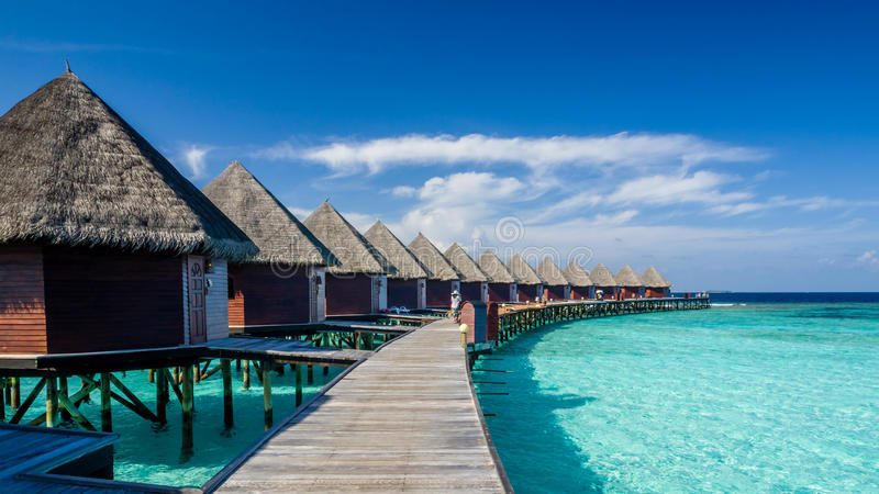Happy days in Maldive royalty free stock photography