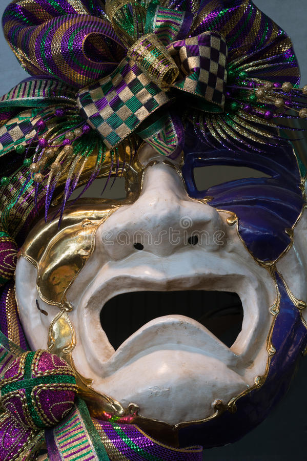 Happy Days. Mardi Gras mask on display in New Orleans royalty free stock photos