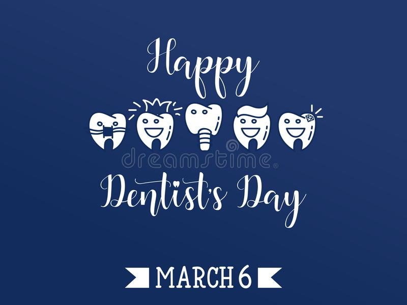 Happy Dentist`s Day. Vector illustration. royalty free illustration