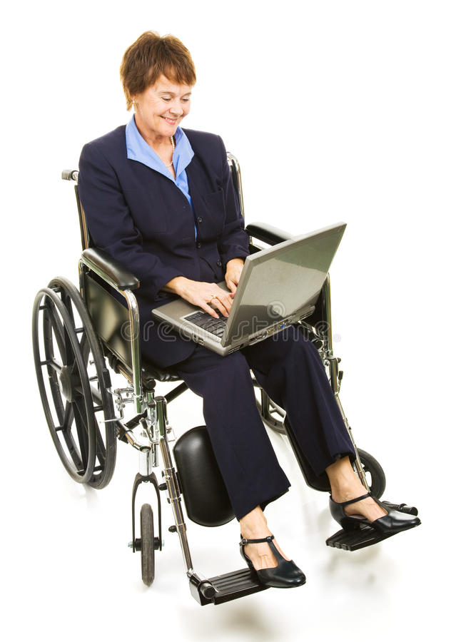 Download Happy Disabled Businesswoman With Laptop Stock Image - Image: 10860209