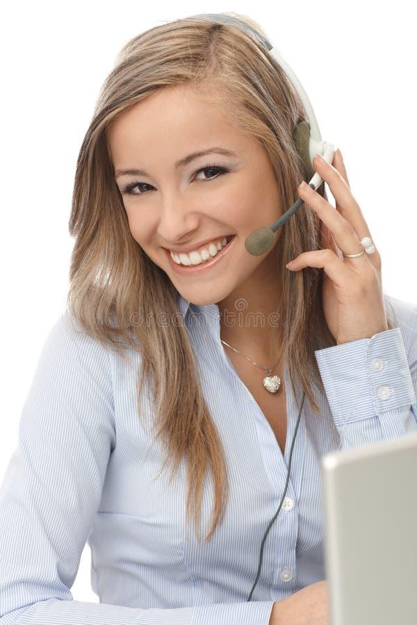 Happy Dispatcher At Work Stock Photo
