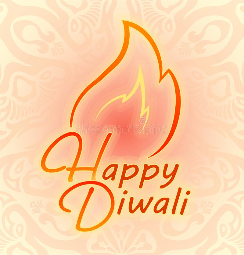 Happy Diwali colorful decor for Indian festival of fires. Happy Diwali colorful decor for Indian festival of fires vector illustration