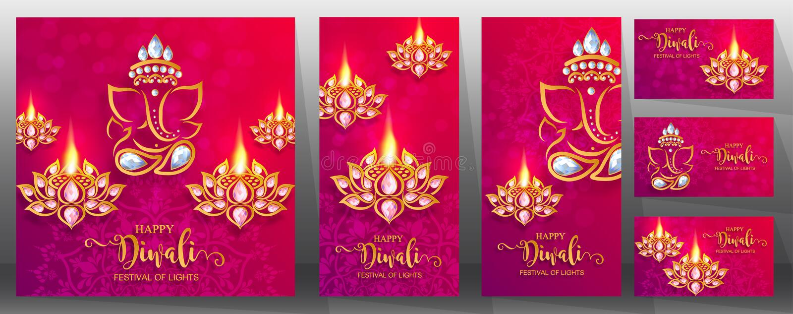 Happy Diwali festival card . stock illustration