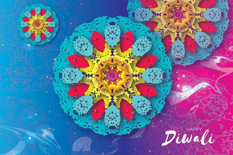 Download Happy Diwali Indian Celebration In Paper Cut Style Origami Beautiful Hindu Festival Of