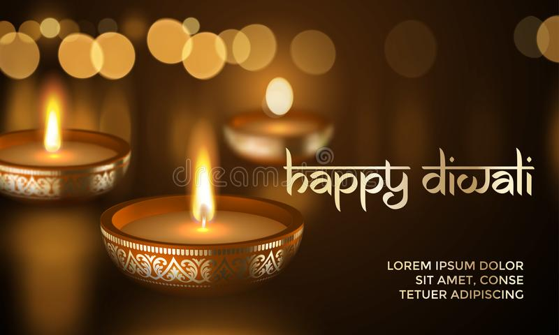 Happy diwali gold candle light indian greeting card vector lettering download happy diwali gold candle light indian greeting card vector lettering text stock vector illustration m4hsunfo