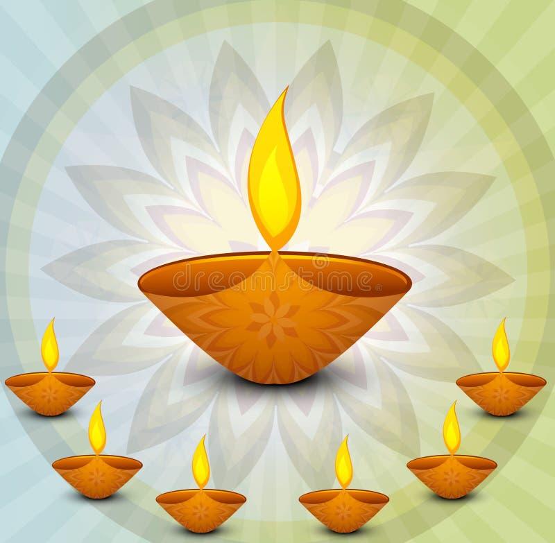 Happy diwali religious colorful background royalty free illustration