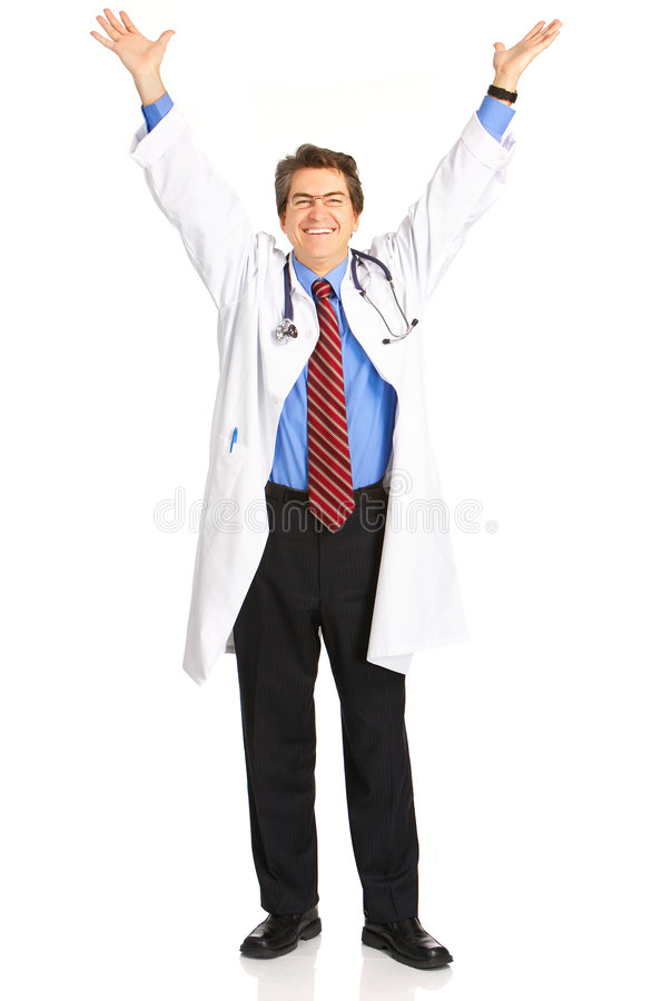 Happy doctor royalty free stock image