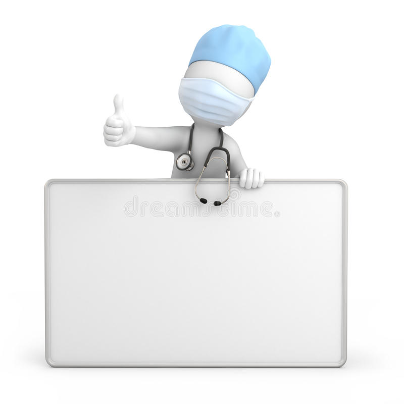 Happy Doctor With Thumb Up Stock Images