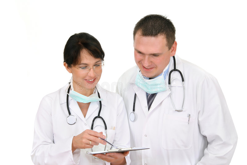 Happy Doctors. Two doctors talking