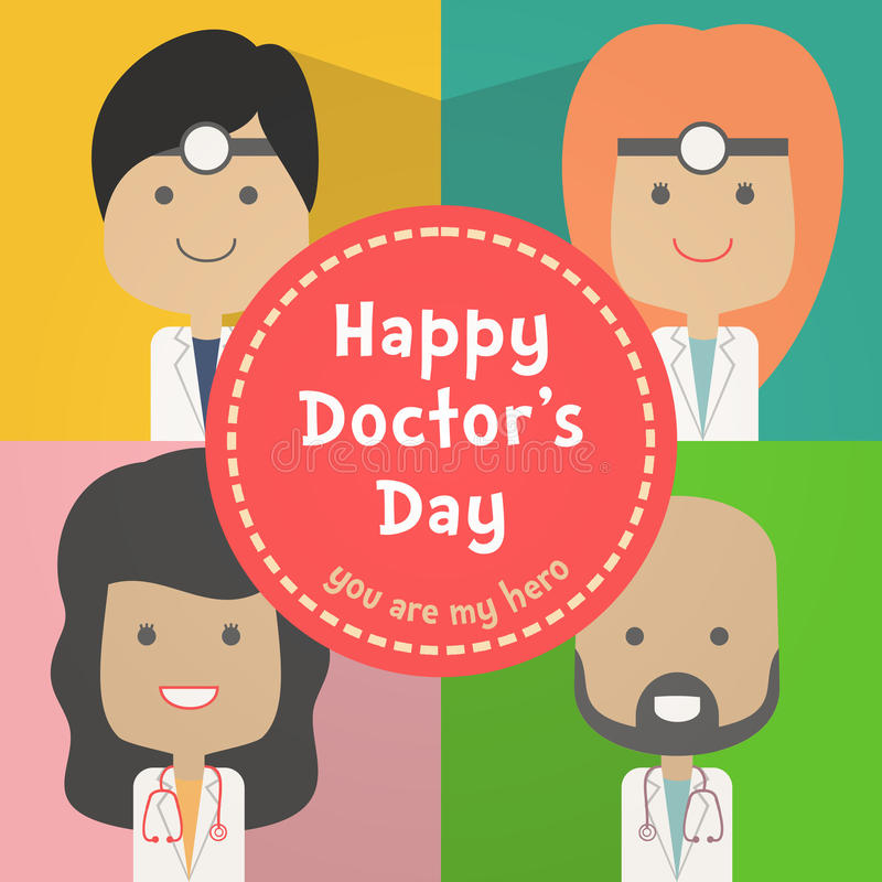 Happy Doctors Day stock illustration