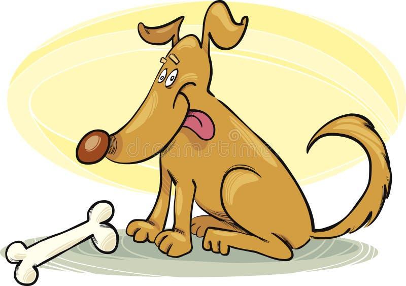 Happy Dog With Bone Stock Photography