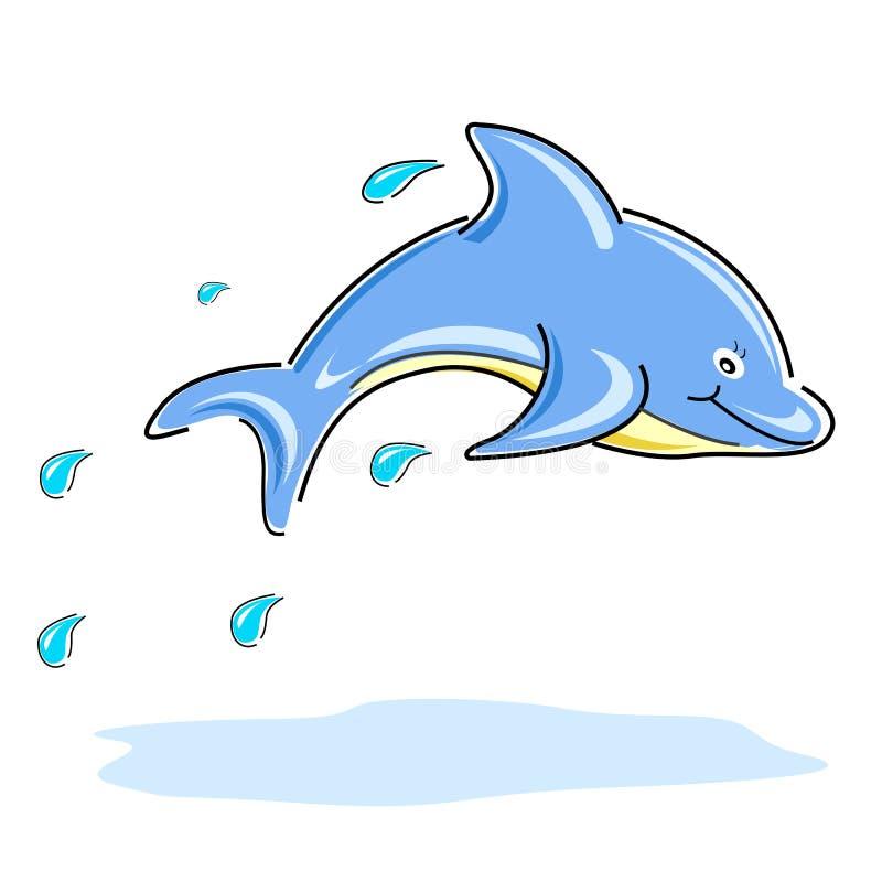 Happy dolphin royalty free illustration