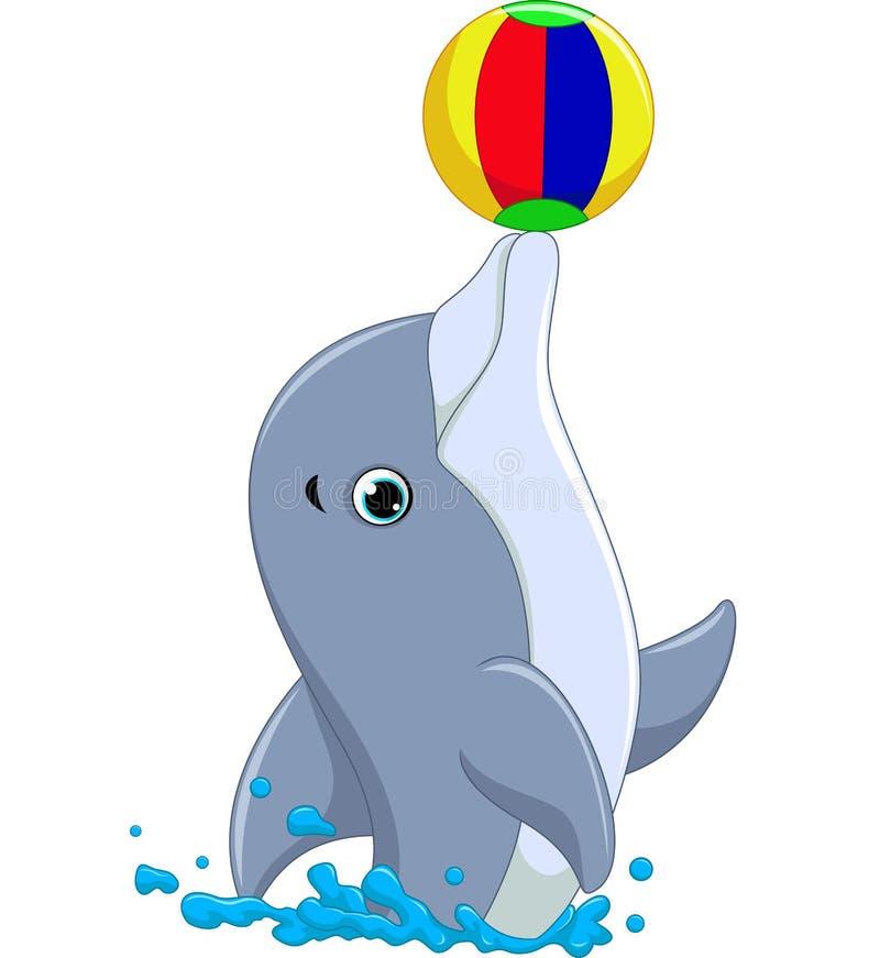 Happy dolphin cartoon stock illustration
