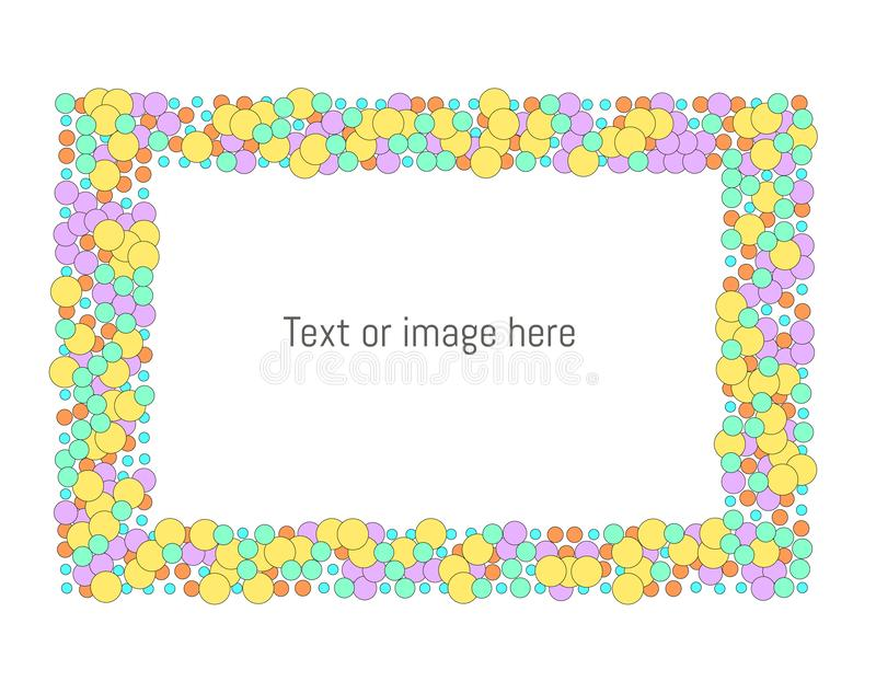 Happy dots frame with space for text/ image. stock illustration