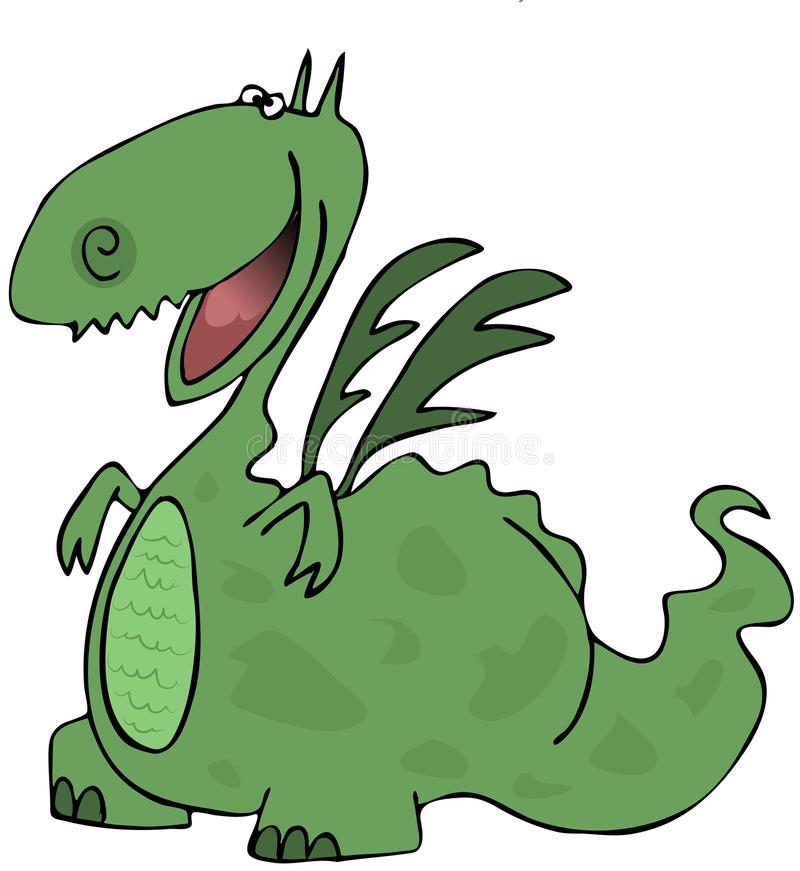 Download Happy dragon stock illustration. Image of illustration - 25517367