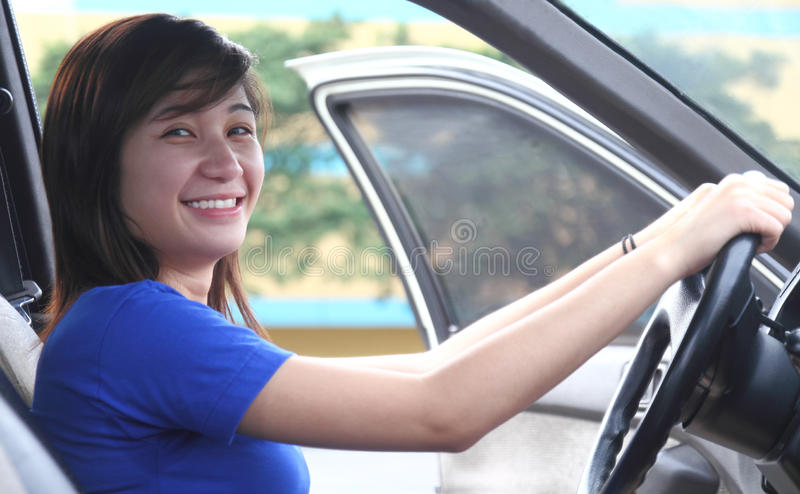 Download Happy driver stock photo. Image of woman, girl, portrait - 16258416