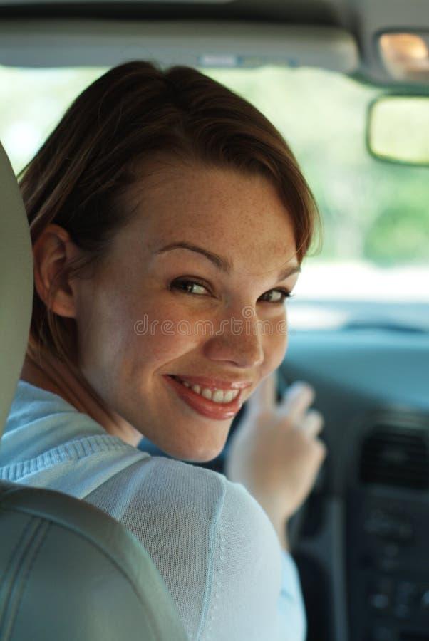 Happy driver stock image