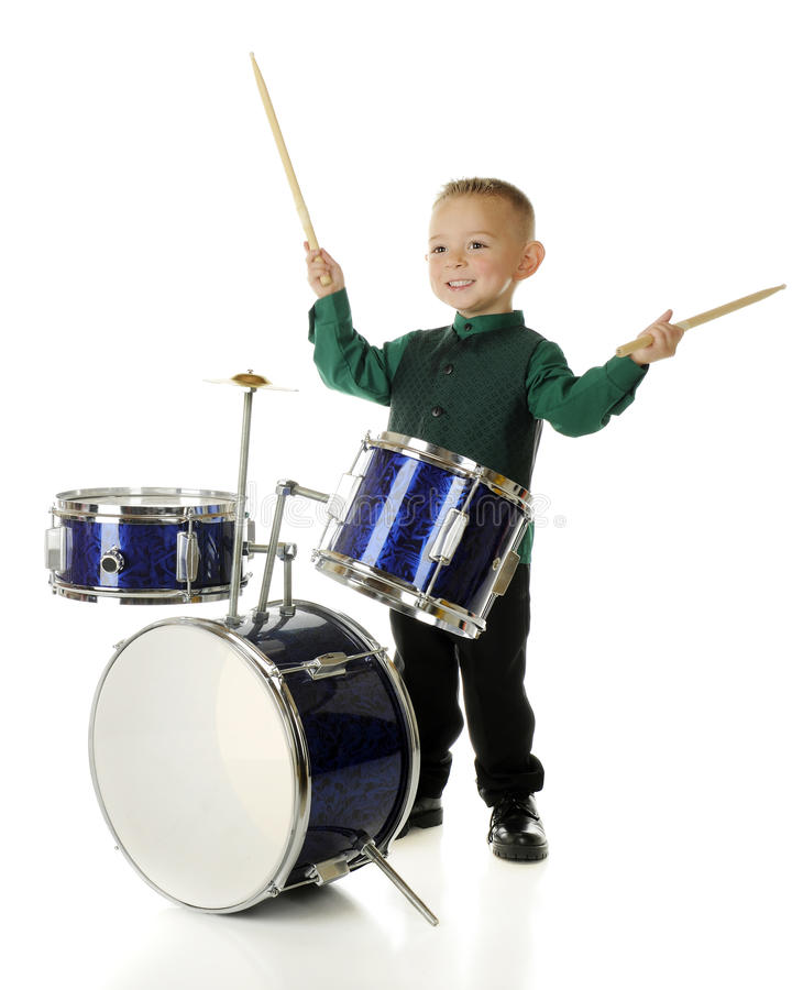 Free Happy Drummer Boy Stock Photo - 40968100