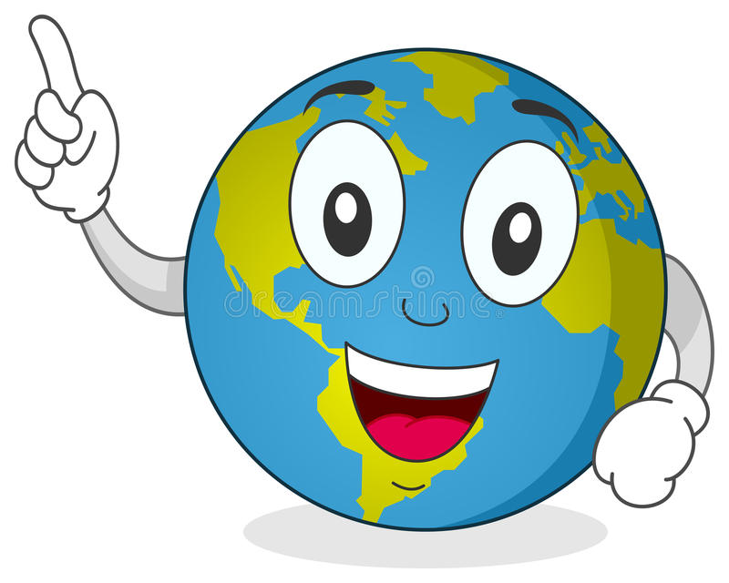 Happy Earth Character vector illustration