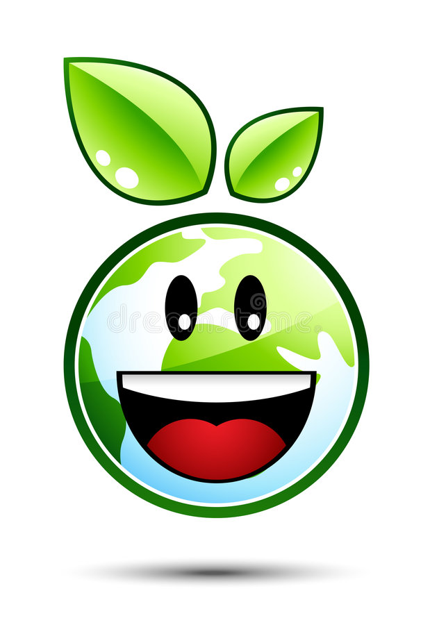 Happy Earth Character Royalty Free Stock Image