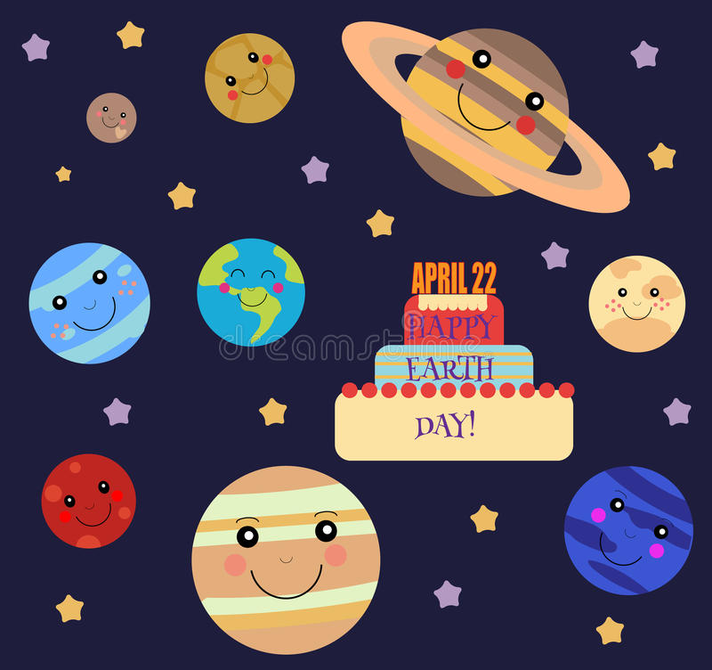 Happy Earth Day Illustration Stock Vector Illustration