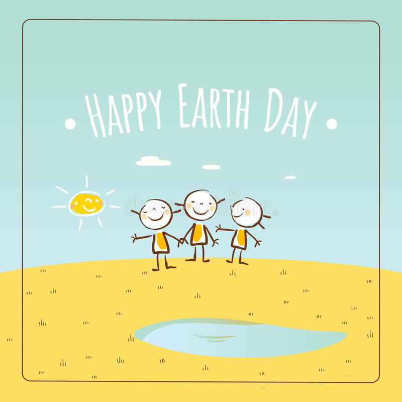 Happy Earth day stock image