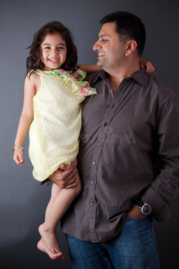 Download Happy East Indian Man With His Daughter Stock Photo - Image: 28714944