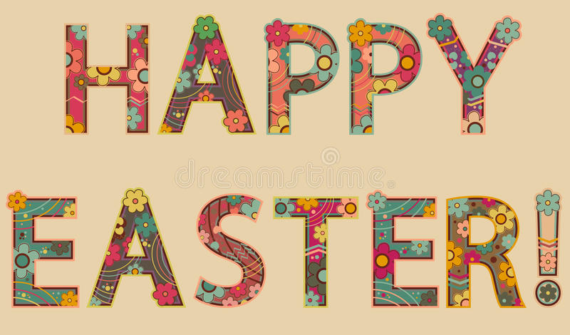 Happy easter! royalty free illustration