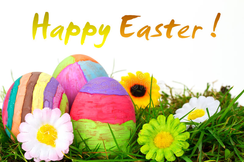 Download Happy Easter stock photo. Image of nature, nest, hand - 19030454