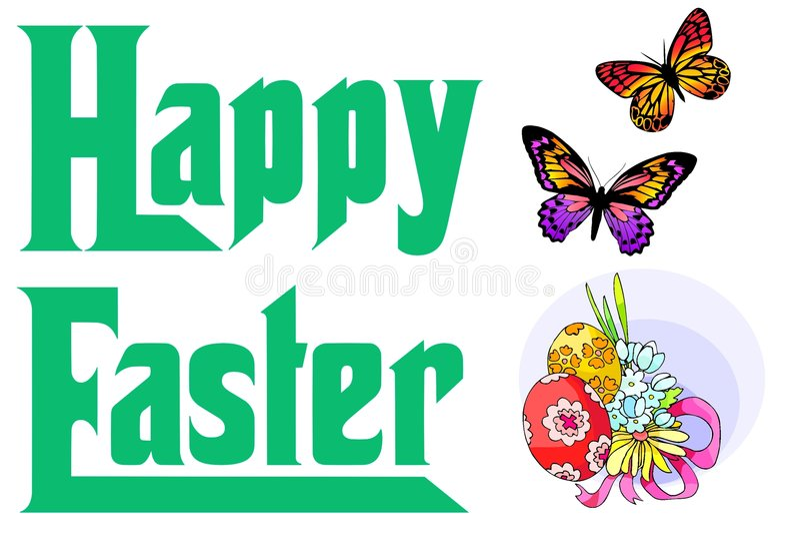 Happy Easter 2 vector illustration