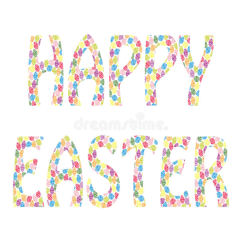 Download Happy Easter stock vector. Illustration of blue, word - 29562486