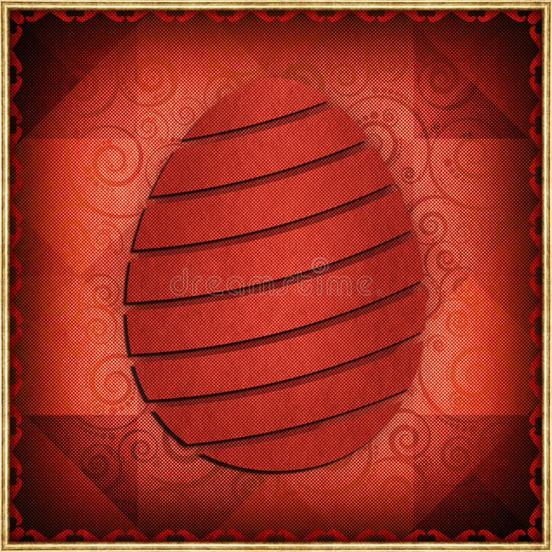 Happy Easter - abstract card vector illustration