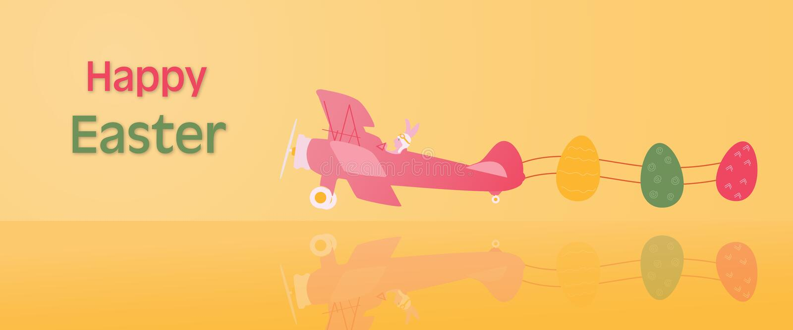 Happy Easter - Airplane royalty free illustration