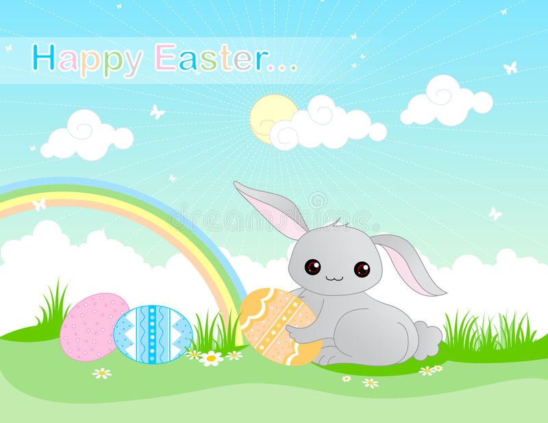 Happy Easter background royalty free illustration