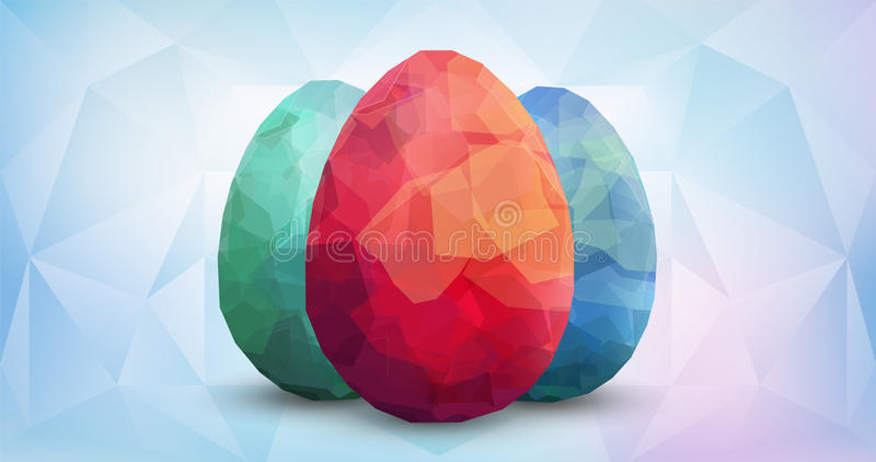 Happy Easter Background with eggs stock illustration