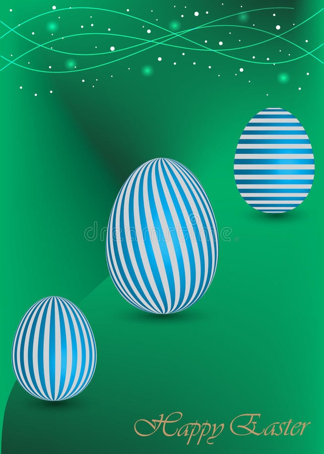 Happy Easter Background with a green Egg vector illustration