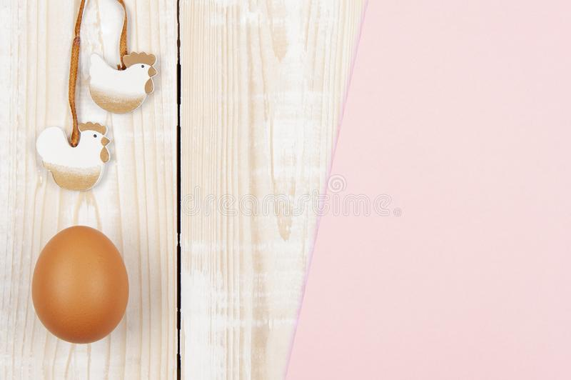 Happy easter background in the pastel color and on the wood.  stock photos