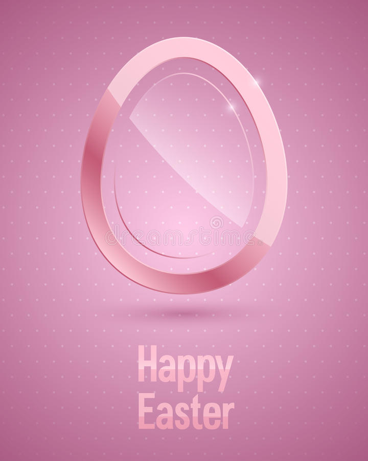 Free Happy Easter Background With Glass Egg. Stock Images - 29550334