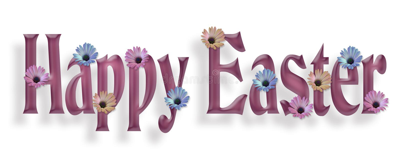 Happy Easter Border Graphic stock illustration