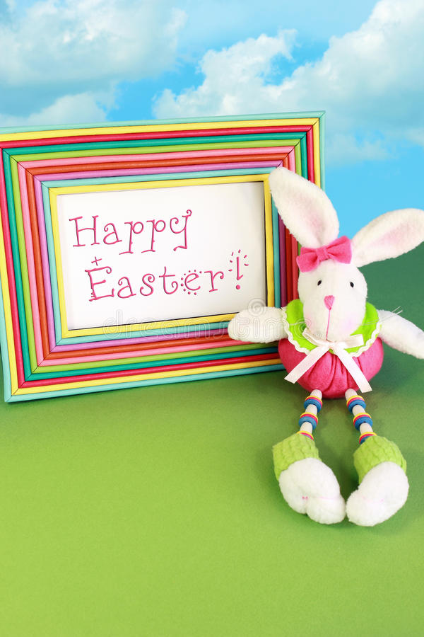 Download Happy Easter Bunny stock image. Image of frame, clouds - 18728223