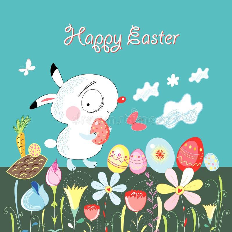Happy easter bunny stock illustration