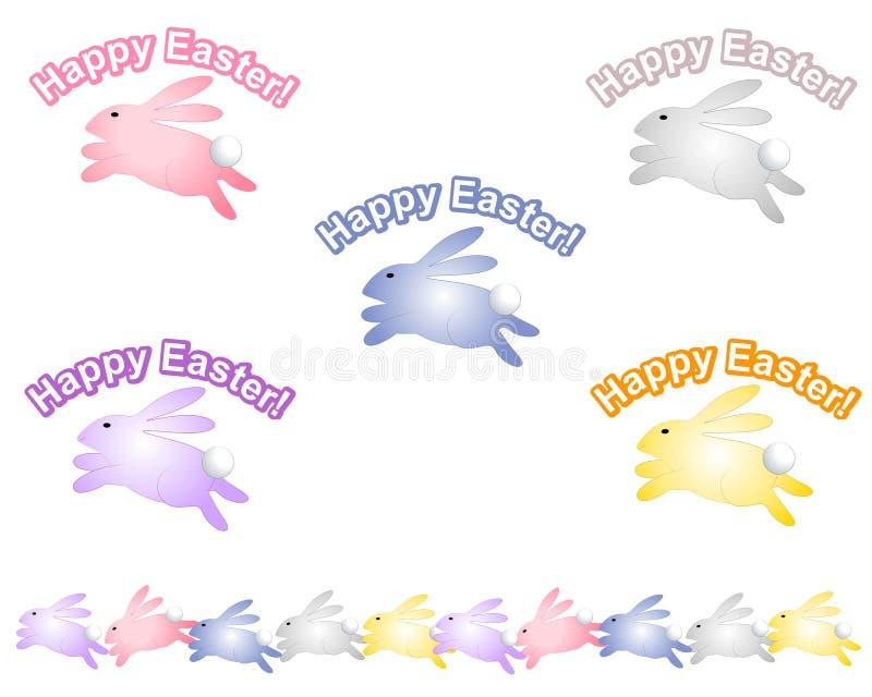 Happy Easter Bunny Rabbit Logos stock illustration